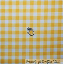 BonEful Fabric FQ Cotton Quilt Bright Yellow White Baby Gingham USA Check Stripe