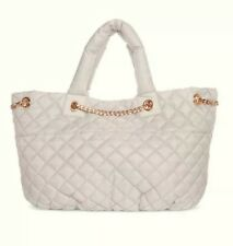 Ariana Grande Fragrance Light Grey Quilted Spring Tote Bag, New
