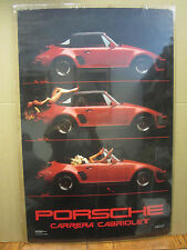 vintage Porsche Carrera Cabriolet1985 Spoiled hot girl car garage man cave 4307