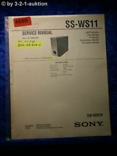 Sony Service Manual SS WS11 Subwoofer (#4680)