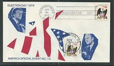 CARTER/FORD 76 ELECTION DAY, 77 INAUGURATION CANCELLATIONS Unknown Cachet (4740)