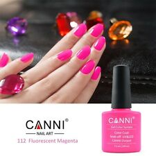112 CANNI FLUORESCENT MAGENTA NEON PINK ROSE UV LED SOAK OFF GEL COLORS NAIL ART