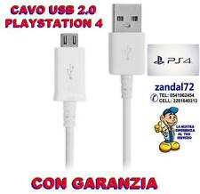 USB CABLE OF CHARGING X CONTROLLER DUALSHOCK 4 GAMEPAD SONY PLAYSTATION 4 WHITE