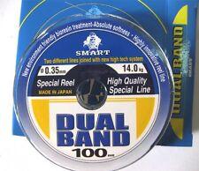 1 BOBINA DI MONOFILO SMART DUAL BAND 0,35 mm 100 mt 14 Kg PESCA - T5