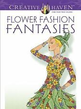 Dover Publications Flower Fashion Fantasies Adult Coloring