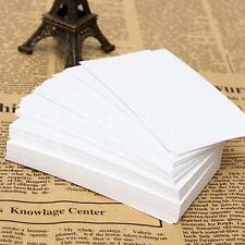 100pcs White Blank Business Cards 120gsm - 90 x 55mm - Print Your Own DTY Craft