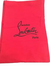 "CHRISTIAN LOUBOUTIN SHOE STORAGE DUST BAG - BRAND NEW!  9"" x 14"" Red"