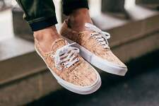 Vans AUTHENTIC Cork Tan True White Skate Shoes MENS 9.5 WOMENS 11 CLASSICS NIB