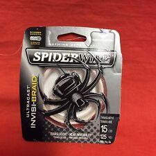 SPIDERWIRE Ultracast Invisi-Braid Line 15 lb (125 yd) #SCUC15IB-125 Translucent