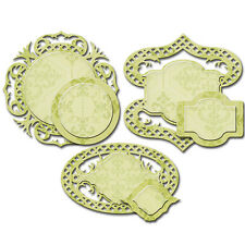 SPELLBINDERS Shapeabilities FANCY FRAMED TAGS FOUR 6 Dies S4-530 Cut Emboss