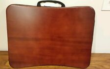 Classic wooden lapdesk padded handle TV laptop tablet child adult carry