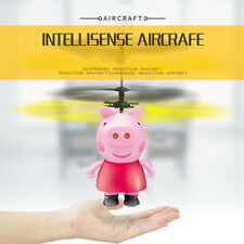 For Peppa Pig Remote Electric Fly Ball Infrared Induction Aircraft Flash LED Toy