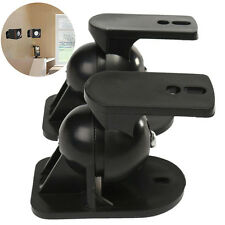 2 X Surround Sound Speaker Wall Mount Brackets Rotatable Black for Bose2