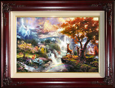 "Thomas Kinkade Bambi's First Year I-G/P 18"" x 27"" Disney Limited Bambi Canvas"
