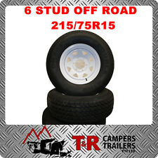 OFF ROAD CAMPER TRAILER/CARAVAN 15*7 WHITE 6 STUD WHEEL WITH 215/75R15 TYRE