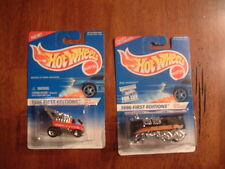 2-MATTEL HOT WHEELS DIE CAST PACKAGED BACKWARD RAIL RODDER & RADIO FLYER WAGON