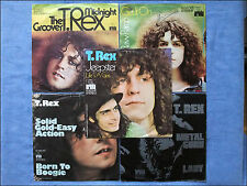 5 Singles - T. Rex - Jeepster The Groover Get it On Metal Guru Solid Gold Easy