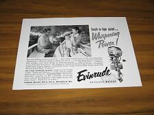 1954 Print Ad Evinrude Outboard Motors Whispering Power Mom & Baby