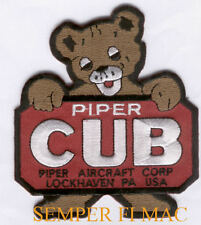 PIPER CUB HAT PATCH AIRPLANE LOCKHAVEN PIN UP SUPER CUB PA12 18 22 28 30 60 GIFT