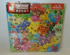 JANOD France Magnetique Magnetic Map Puzzle French NEW unopened Country Regions
