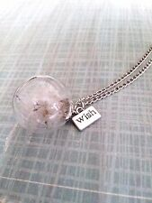 Dandelion Seed Necklace Glass Globe Necklace Vial Wishing Necklace Make A Wish