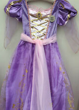 Princess Rapunzel Disney Hooped Costume Dress Up Tangled Hair Age 9/10 years