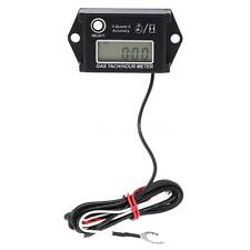 Digital LCD Tach Hour Meter Tachometer RPM Gauge for 2/4 Stroke Gas Engine C4L3