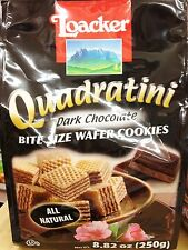 8.82oz Loacker Quadratini Bite Size Wafer Cookies Dark Chocolate
