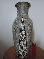 Villeroy & Boch, Mettlach, Vase, Filigran Mosaik, West German Pottery, 33 cm
