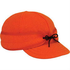 7 1/2 Original Men's Stormy Kromer Wool Hat Cap Blaze Orange Made in the USA