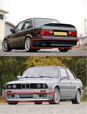 EURO FRONT + REAR spoiler BMW E30 M3 MT2 M Tech II MTech Technic 2 BODY KIT No.2