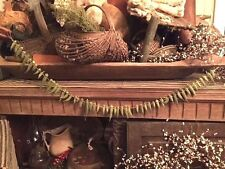 "Primitive Dried Okra Garland Fall Harvest Decor 36""   Early Look"
