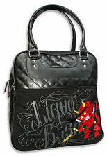 Liquor Brand Lil Devil Punk Skater Sinner Tattoo Rocker Gothic Purse Handbag Bag