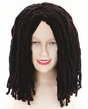 Long Black Dreadlocks Wig Rasta Carribean Hippie Fancy Dress