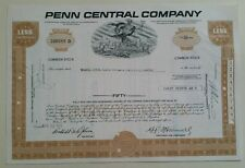1971 The Penn Central Company 50 Share Certificate Scripophily