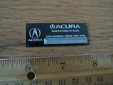 Acura Metal Display Plaque 1/18 1/24 1/43 Diecast Autoart NSX Tamiya RSX Integra