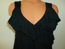 Kenneth Cole Reaction size L large black ruffle padded stretch dress
