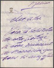 Cécile Sorel. Lettre autographe signee vers 1905, adressée à Louis Leloir #2