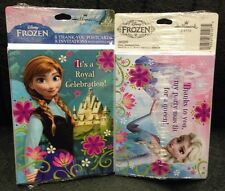 2 Packs of 8 DISNEY FROZEN BIRTHDAY PARTY INVITATIONS AND THANK YOU CARDS-