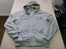 026 MENS NWOT DC. LT GREY MARLE ZIP / BUTTON UP L/S HOODIE SML $110.