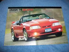 "1995 Mustang GT Convertible Article ""Cruisin' the Big Apple"""