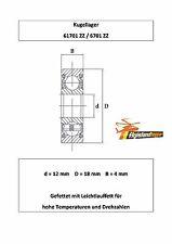 10x Kugellager 6701 ZZ 12x18x4 mm High Precision Bearing 61701ZZ 12 x 18 x 4 mm