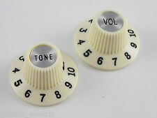 Pair of Genuine Fender Pure Vintage 65 Jazzmaster Witch Hat Knobs 099-2086-000