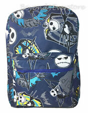 "Nightmare Before Christmas Jack Skeleton 16"" Back to School Blue Canvas Backpack"
