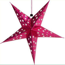 Christmas Pentagram Lampshade Lantern Hanging decor Star Topper Ornaments Party