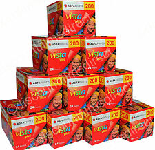10 x AGFA VISTA 200 35mm 24exp CHEAP COLOUR PRINT CAMERA  FILM BY 1st CLASS POST