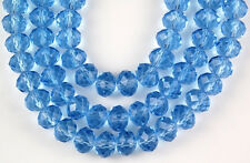 72pcs Chinese Crystal Sapphire Faceted Rondelle Loose Beads Jewelry Spacer