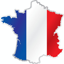 "France Country Flag Map Car Bumper Window Mirror Sticker Decal 4""X5"""