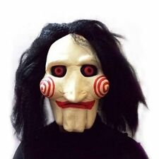 SAW Mask JIGSAW saw Puppet Latex Mask Artificial hair Halloween Carnival Costume