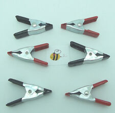 """2"""" BONDING CLIPS Clamps Hold Projects for Gluing SET of Six Spring Loaded Tools"""